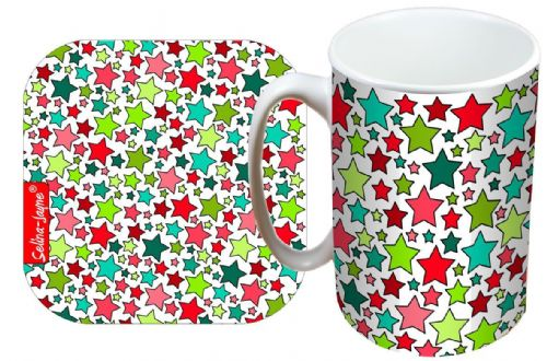 Selina-Jayne Stars Limited Edition Designer Mug and Coaster Gift Set